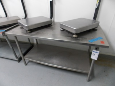 "Lot 51 - Stainless Table top | All stainless steel table, 60""x30""x33""H 