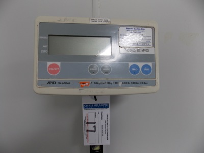 Lot 17 - 150 Lb Capacity Scale | Digital Platform Scale, 150lb. Cap | MODEL# FG-60KAL | SERIAL#