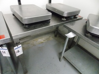 """Lot 49 - Stainless Table 