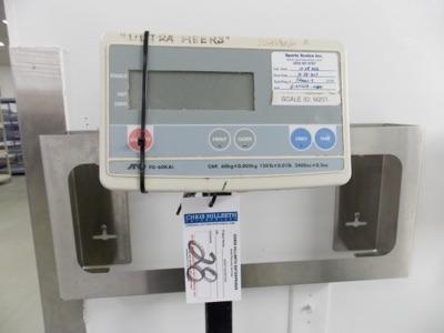Lot 28 - 150 Lb Capacity Scale | Digital Platform Scale, 150lb. Cap Scale I.D. M201 | MODEL# FG-60KAL |
