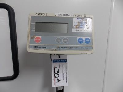 Lot 30A - AND   Digital Platform Scale, 150lb. Cap Scale I.D. M102   MODEL# FG-60KAL   SERIAL# EQ1930552   *