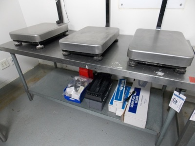 "Lot 50 - Stainless Table top | Stainless steel table top, 72""x30""x33""H 