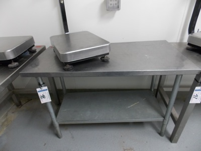 """Lot 48 - Stainless Table top 