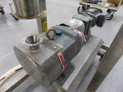 Lot 112 - Stainless steel batter pump with mixing hopper