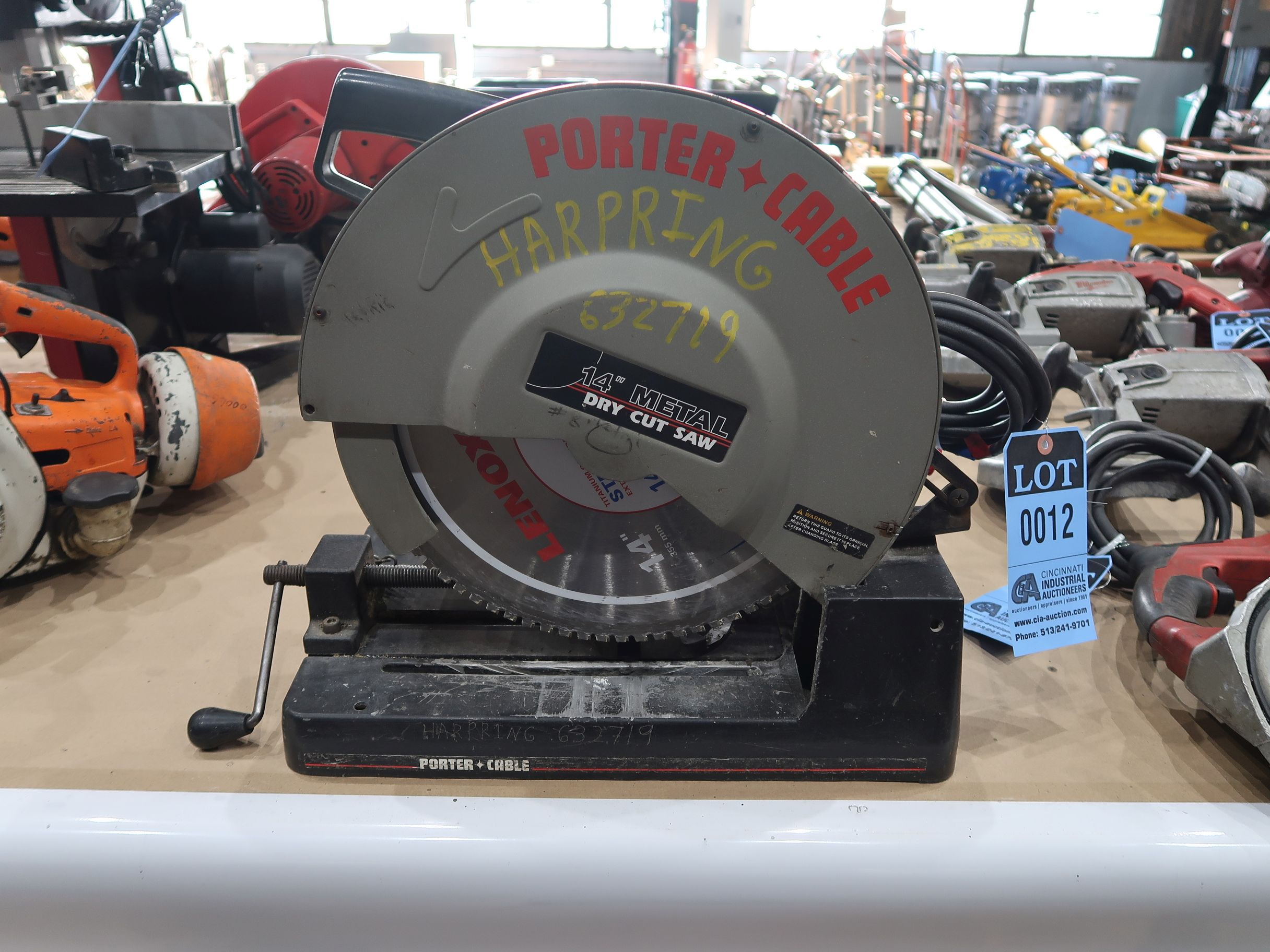 14 porter cable cut off saw lot 12 14 porter cable cut off saw greentooth Images