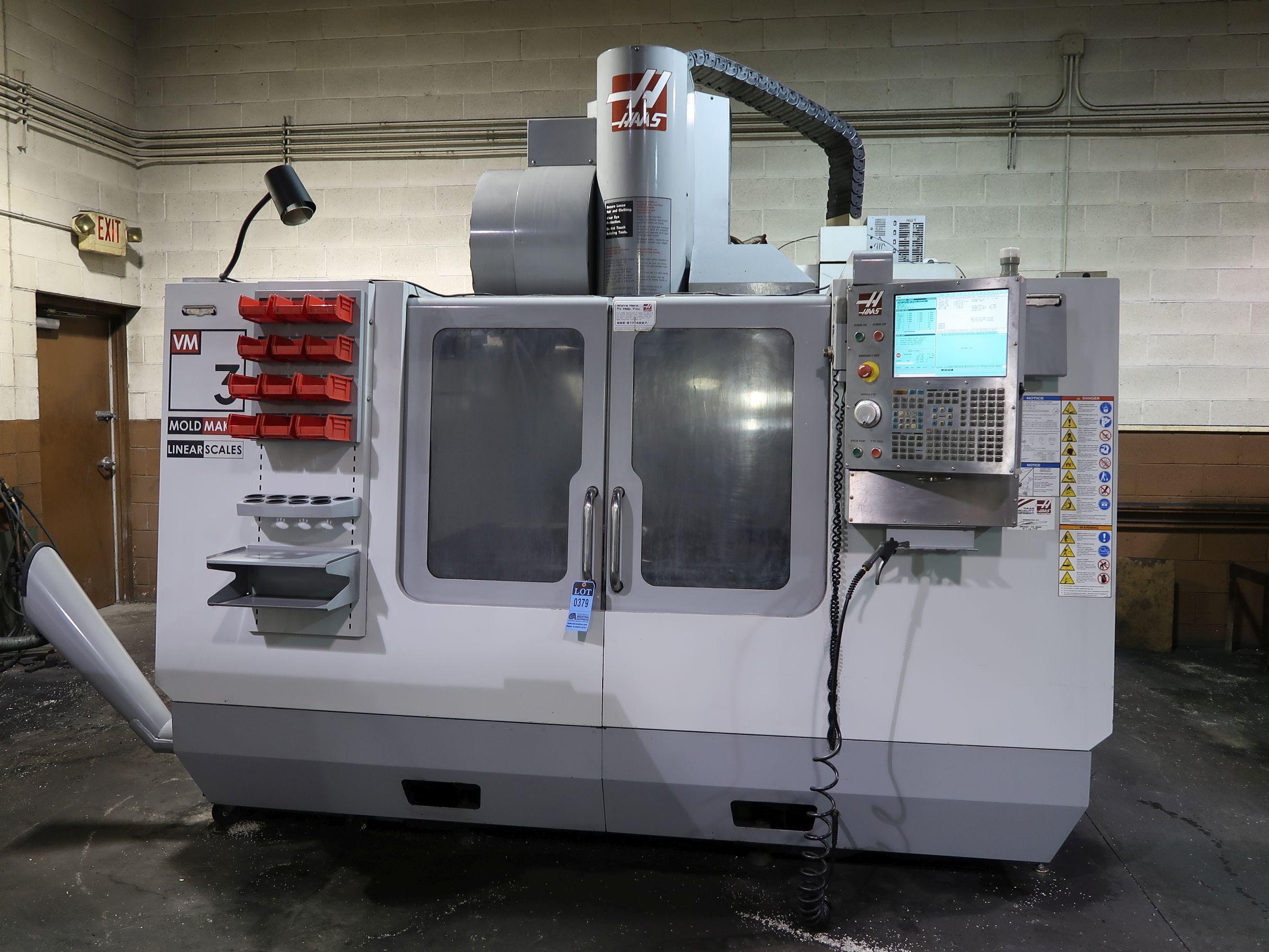 HAAS MODEL VM-3 CNC VERTICAL MACHINING CENTER; S/N 1065657 ...