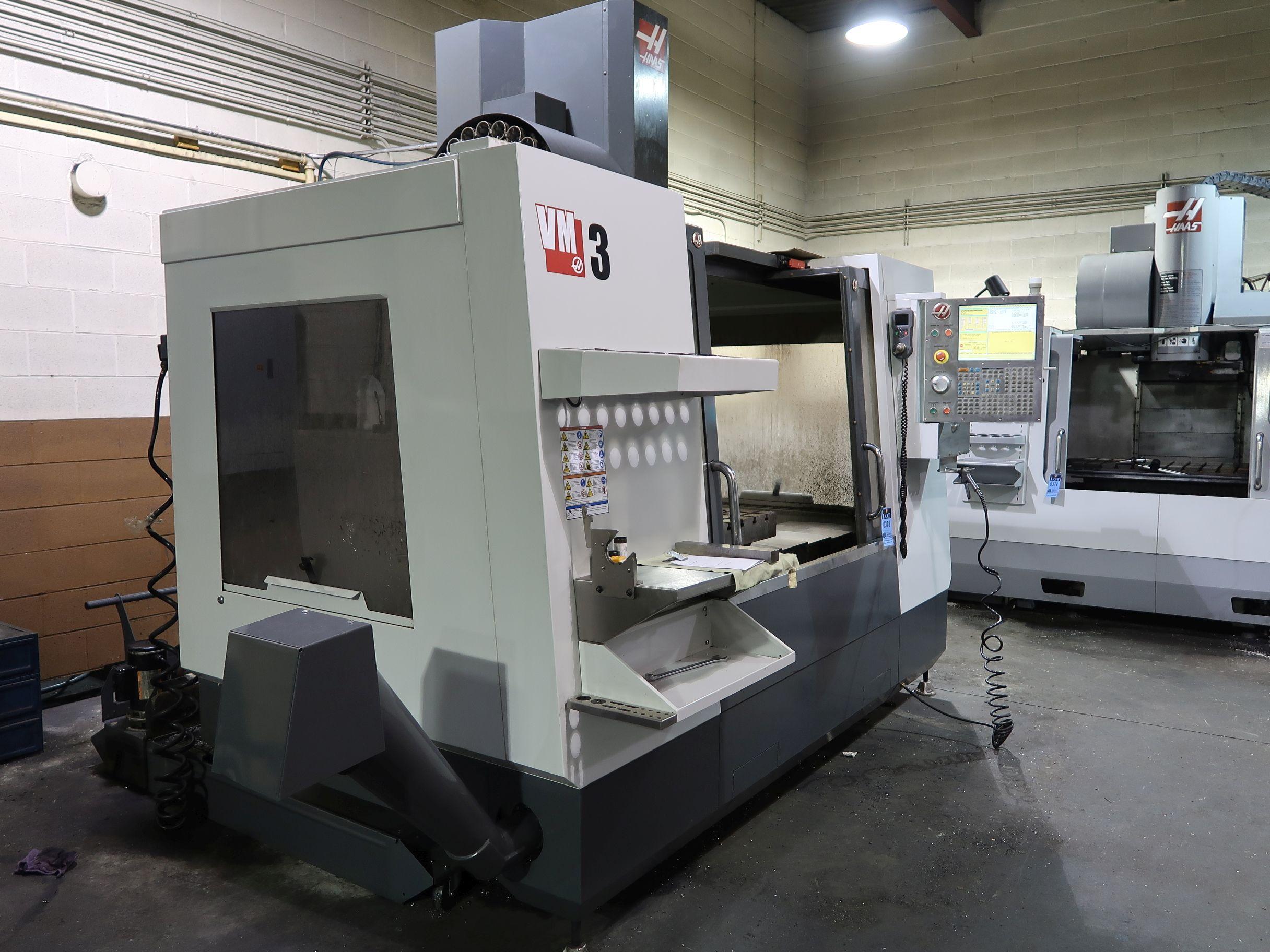 HAAS MODEL VM-3 CNC VERTICAL MACHINING CENTER; S/N 1096697 ...