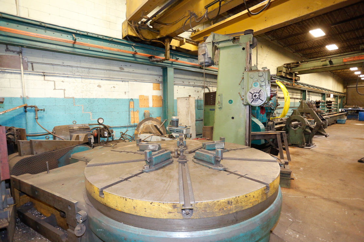 "Lot 5 - LANDIS HORIZONTAL BORING MILL SIZE 35, 96"" ROTARY TABLE, S/N: 550"