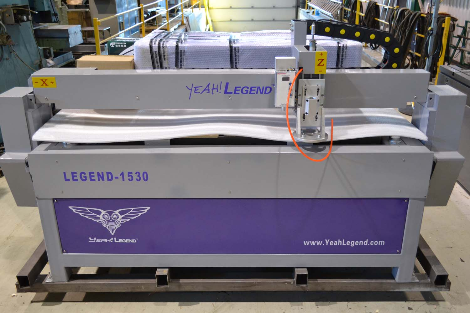 Lot 14 - NEW - STEEL TAYLOR 5' X 10' CNC PLASMA TABLE MOD. LEGEND B5II, S/N: 75159140-6C (PLASMA UNIT NOT
