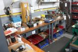 Lot 13 - L shape work bench