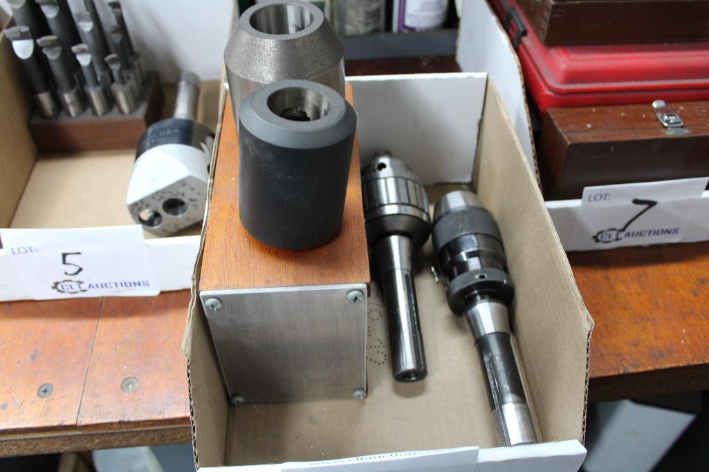 Lot 6 - R-8 drill chucks & endmill holders