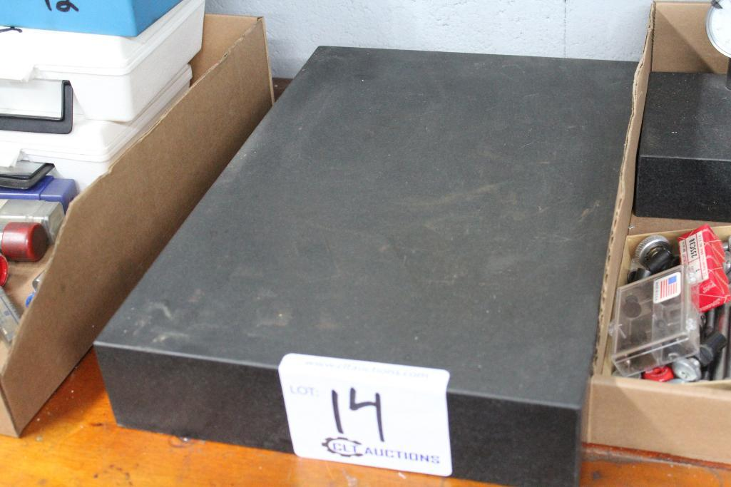 "Lot 14 - Granite surface plate 12"" x 18"" x 3"""