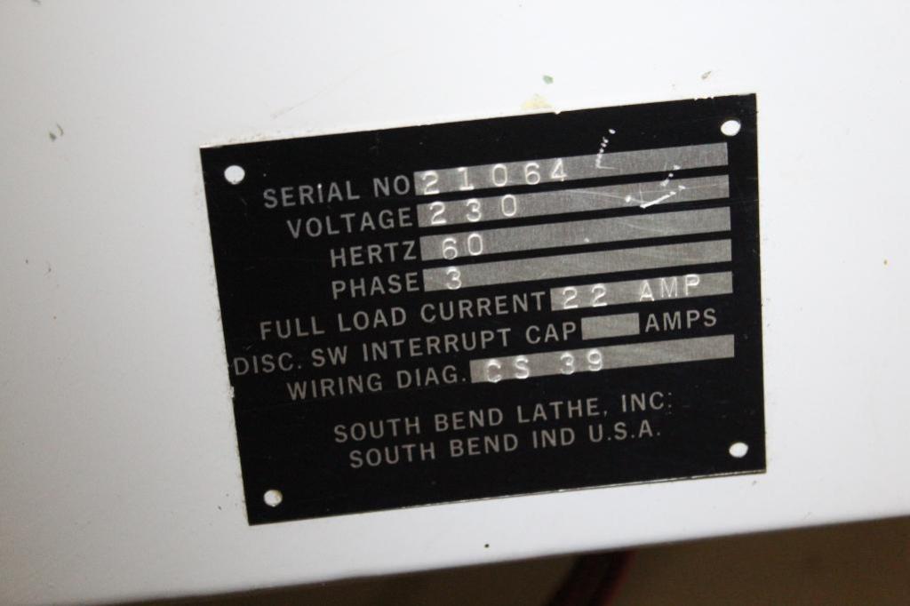 "Lot 1 - South Bend Lathe CS39 16"" x 64"" Gap Bed Engine Lathe"