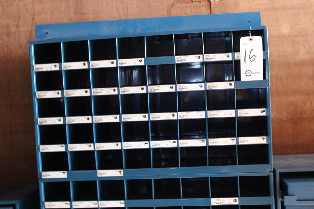Lot 16 - Barnes hardware bin cabinet