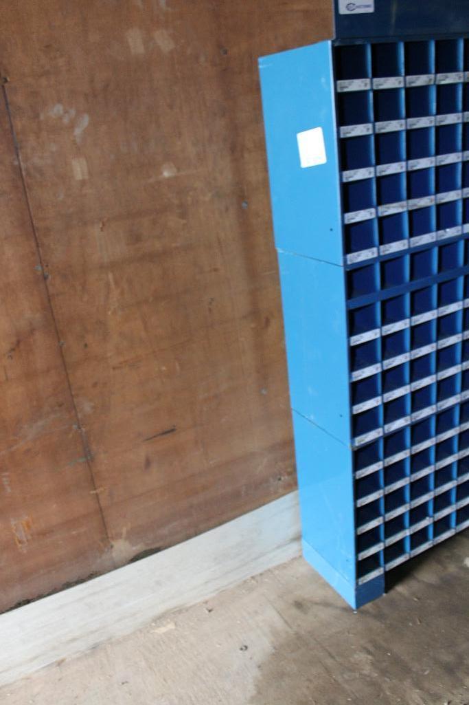 Lot 22 - Barnes hardware bin cabinet