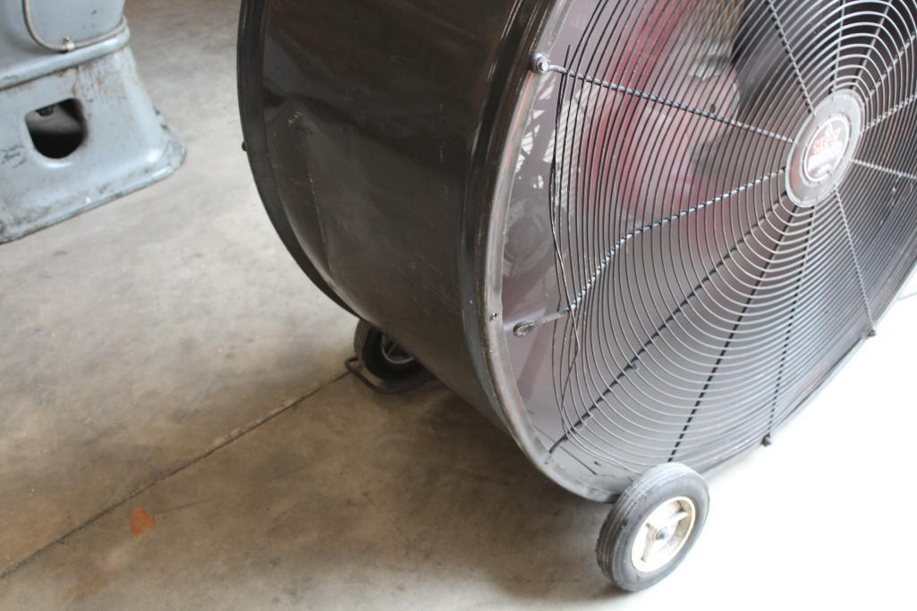 """Lot 27 - Heat Buster 42"""" floor fan"""
