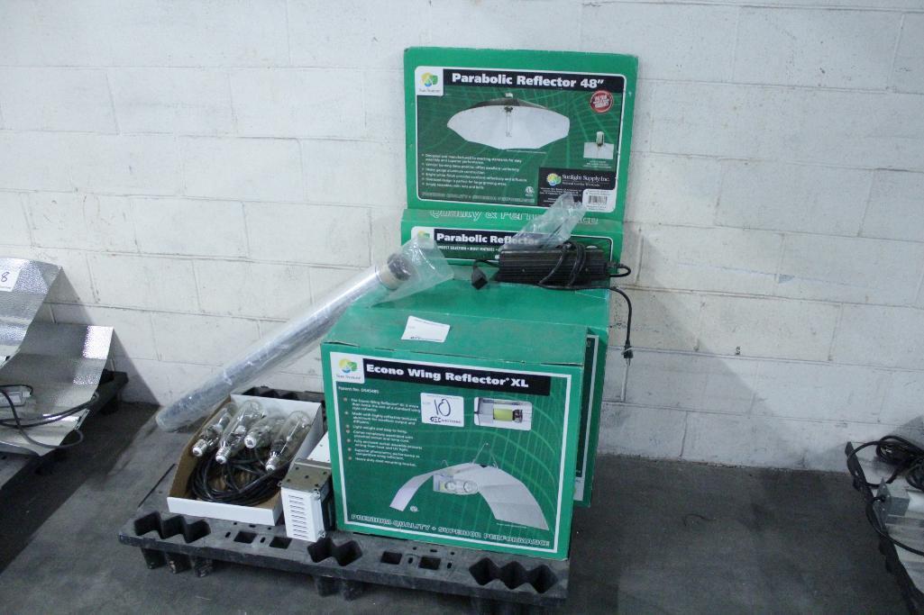 Lot 10 - Sun System ballast w/ reflectors & bulb SLS-CWA-HPS600A / 2T