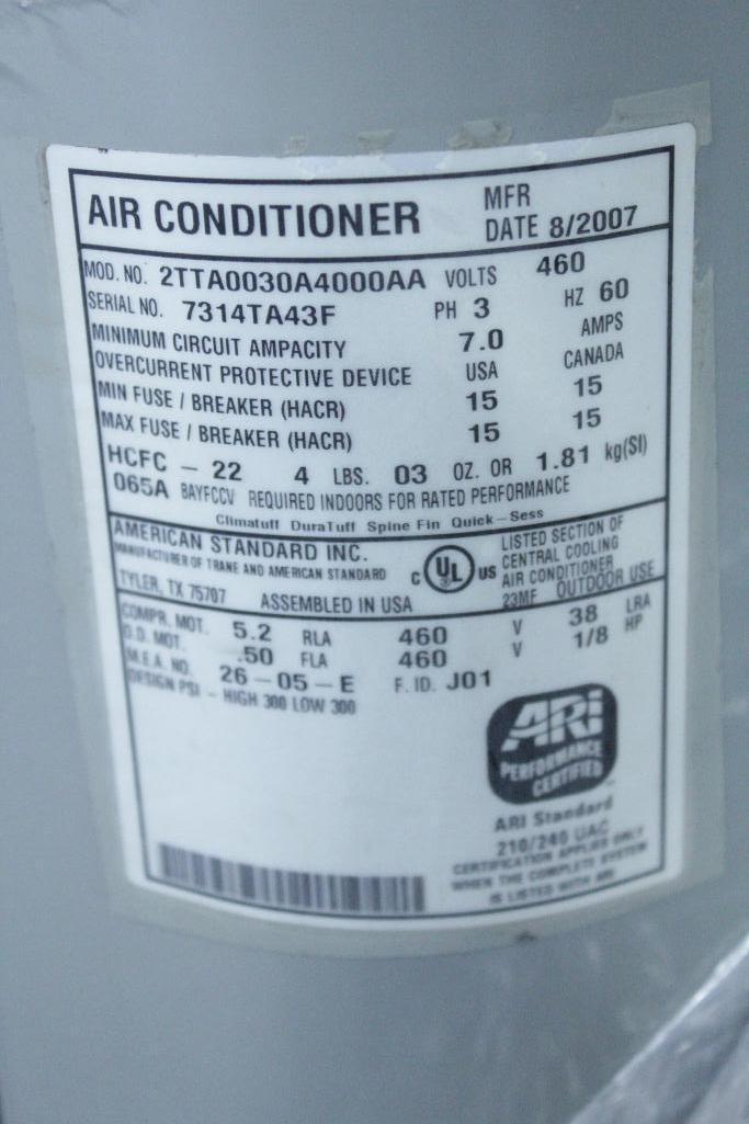 Lot 13 - Trane TWE060B400EL HVAC unit w/ condensers