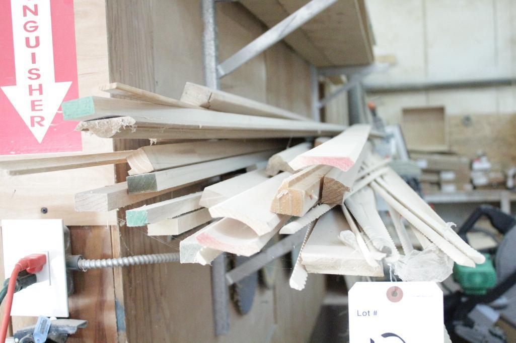 Lot 12 - Lumber & molding on rack