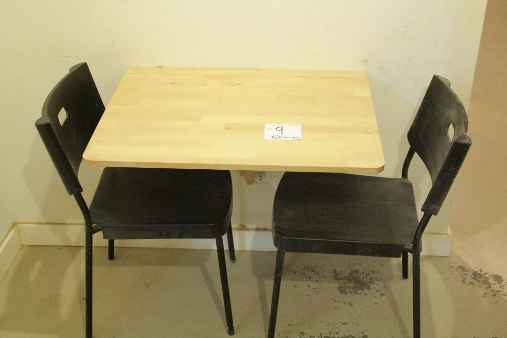 Lot 9 - Folding table w/ chairs