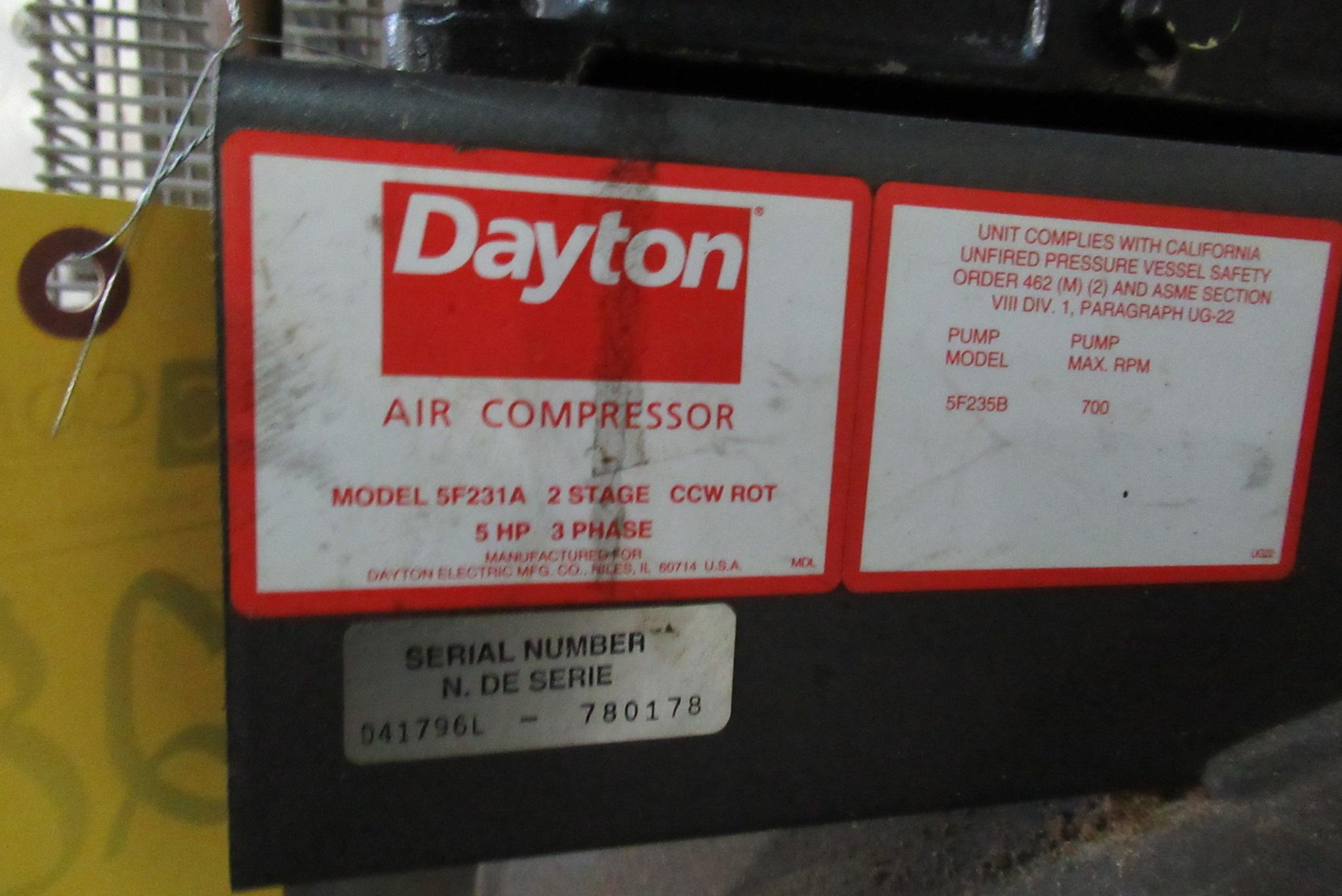 Lot 28 - Dayton Industrial Duty Air Compressor