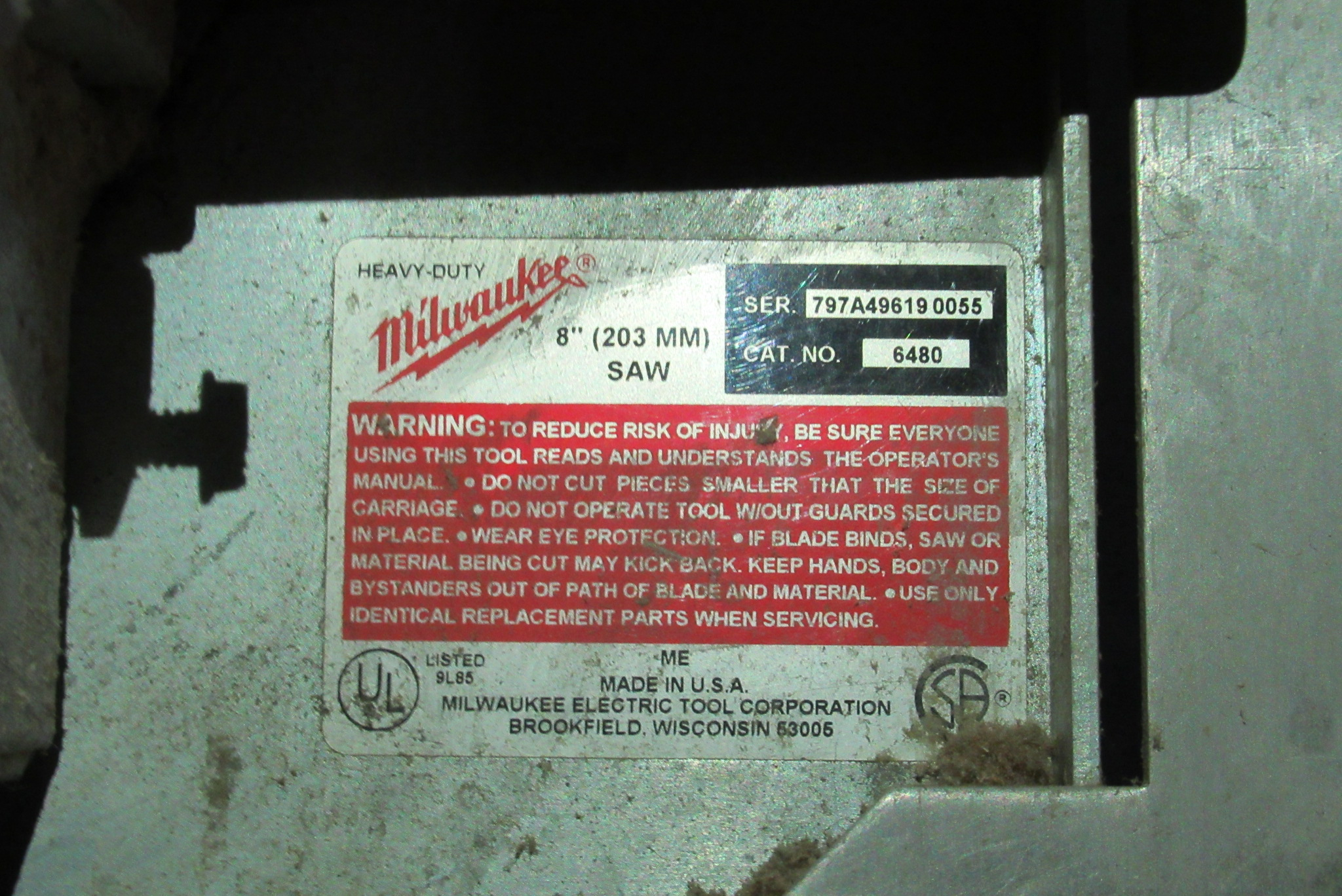Lot 19 - Milwaukee Panel Saw