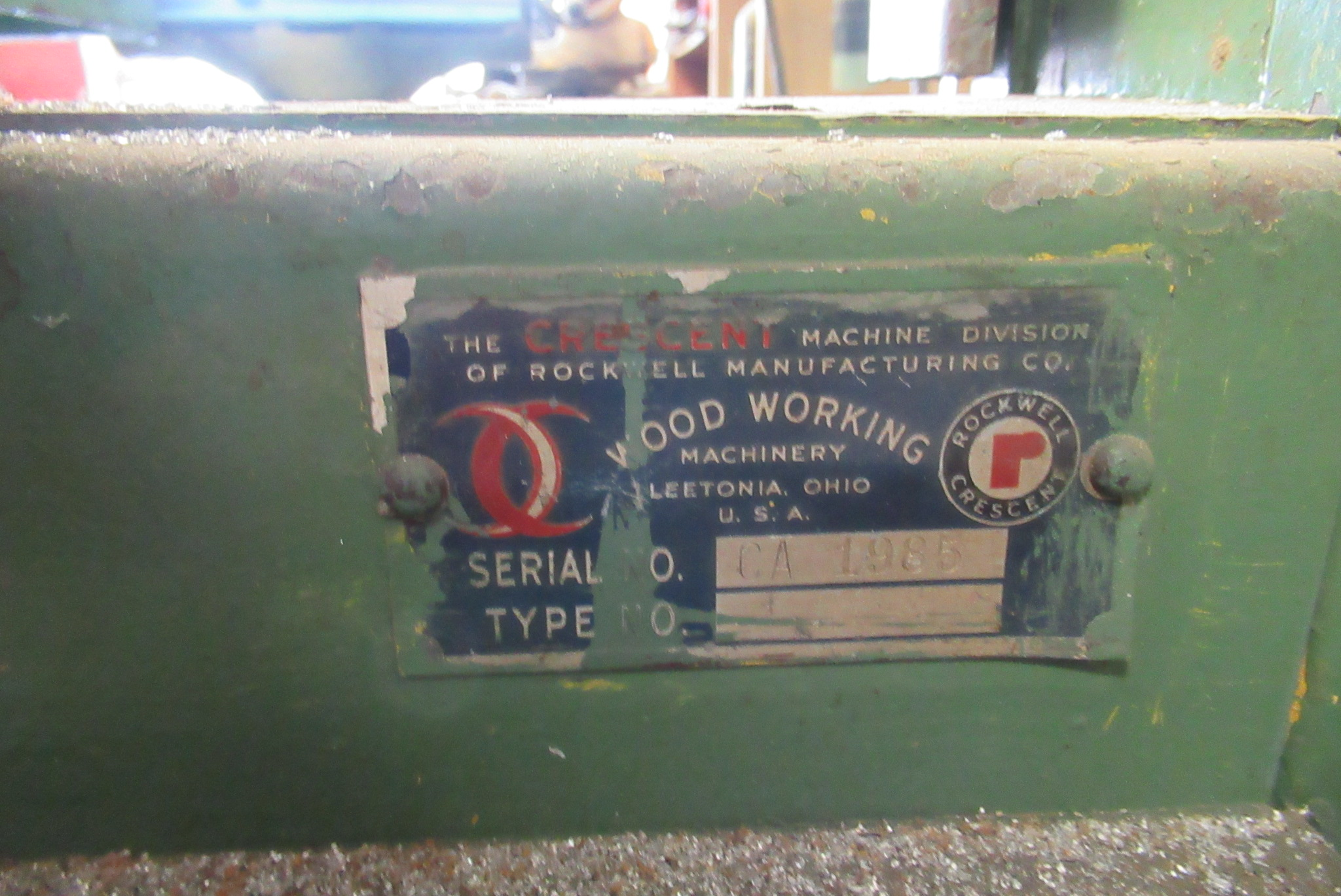 Lot 22 - Rockwell Vertical Band Saw, s/n CA-1985