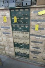 Lot 36 - Cabinet w/Contents: Bolts, Nuts, Bearings, Asst. (Lot)