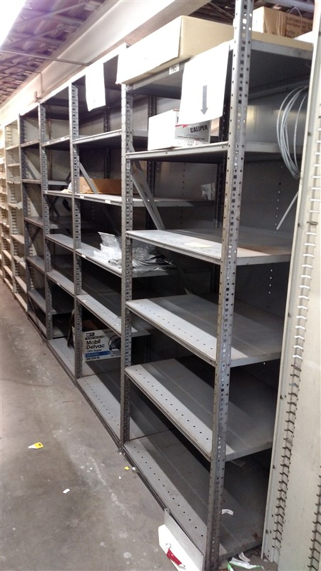 "Lot 52 - (8) Parts Shelving Bins (24"" D each) - (8 x Bid)"