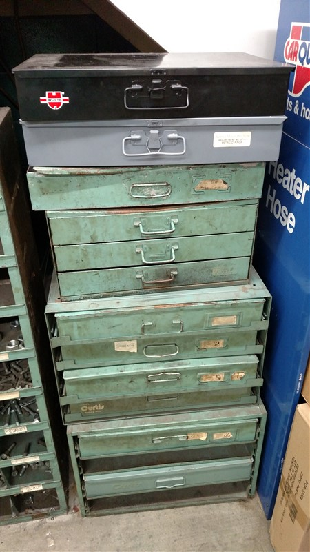 Lot 53A - (12) Hardware Stock Drawers - (1 x Bid)