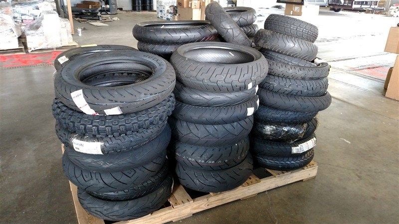 Lot 17 - (45+) NEW Motorcycle Tires (Assorted Sizes) - VHDA: 7.25% Sales Tax charged - (1 x Bid)