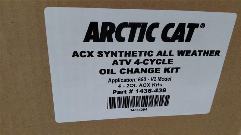 Lot 39 - (35+) NEW Artic Cat Oil Change Kits (Assorted): 7.25% Sales Tax charged - (1 x Bid)