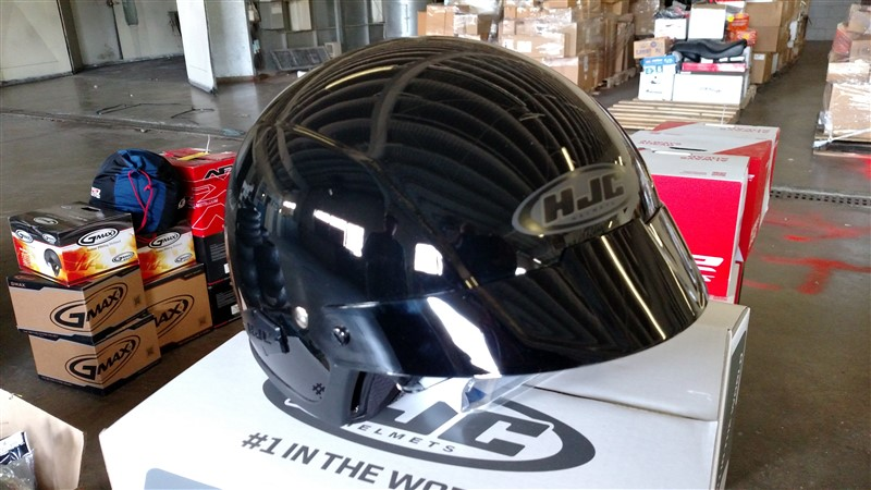 Lot 12 - (7) NEW HJC Motorcycle Helmets (Assorted Sizes) - VHDA: 7.25% Sales Tax charged - (7 x Bid)