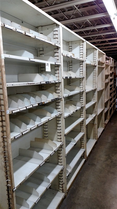"Lot 51 - (14) Parts Shelving Bins (12"" D each) - (14 x Bid)"