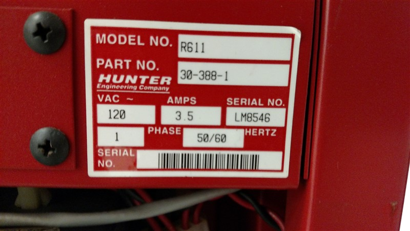 Lot 18 - Hunter DSP400 Alignment System: WinAlign (Version 7.2.1) R611 Console s/n LM8546 w/ (4) Targets ...