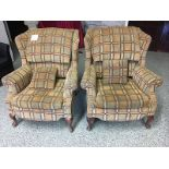 LOT OF 2 CLUB CHAIRS