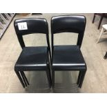 LOT OF 9 BLACK STACKABLE CHAIRS