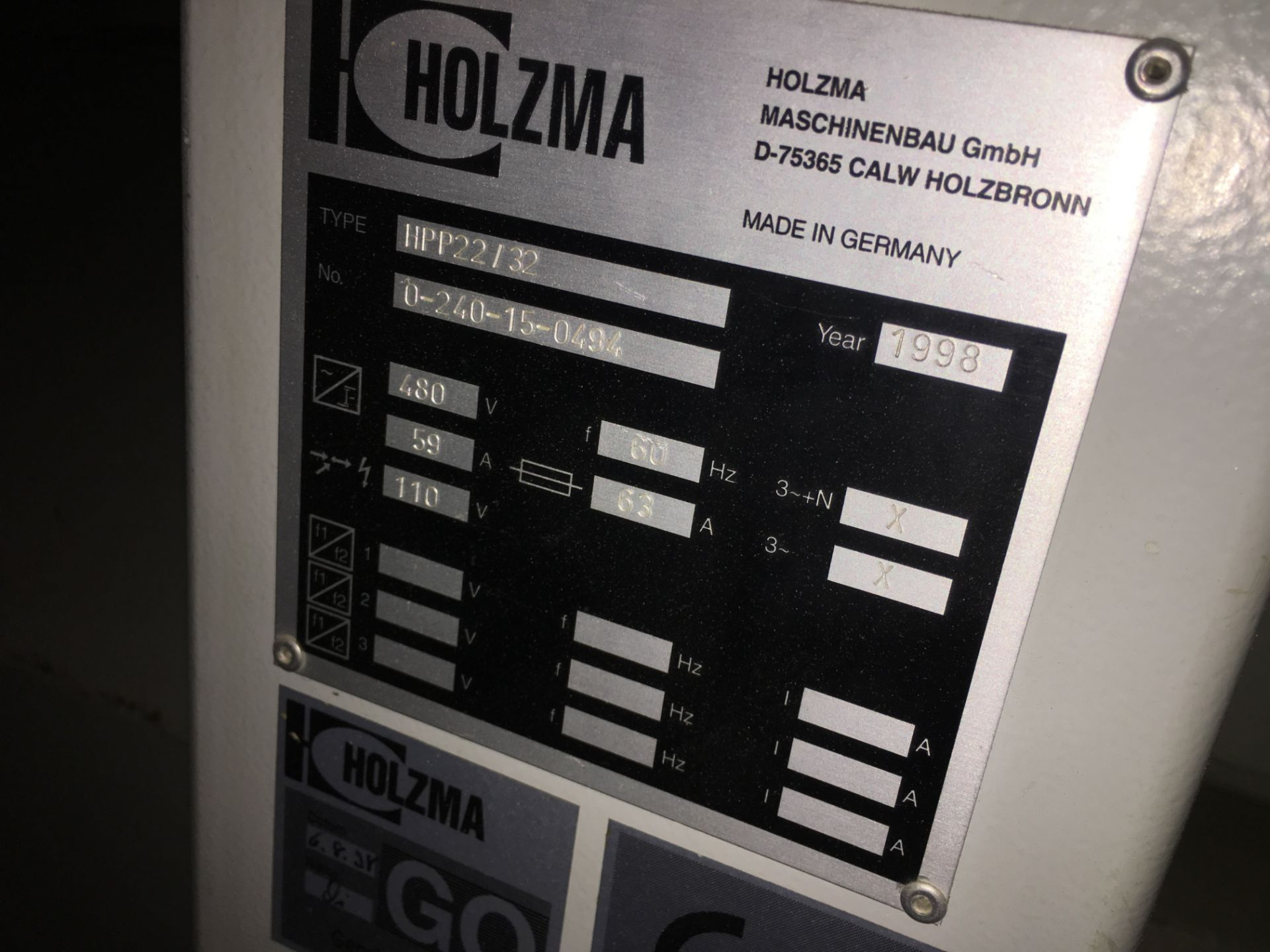 HOLZMA (HPP22/32) CNC PANEL SAW - Image 4 of 4