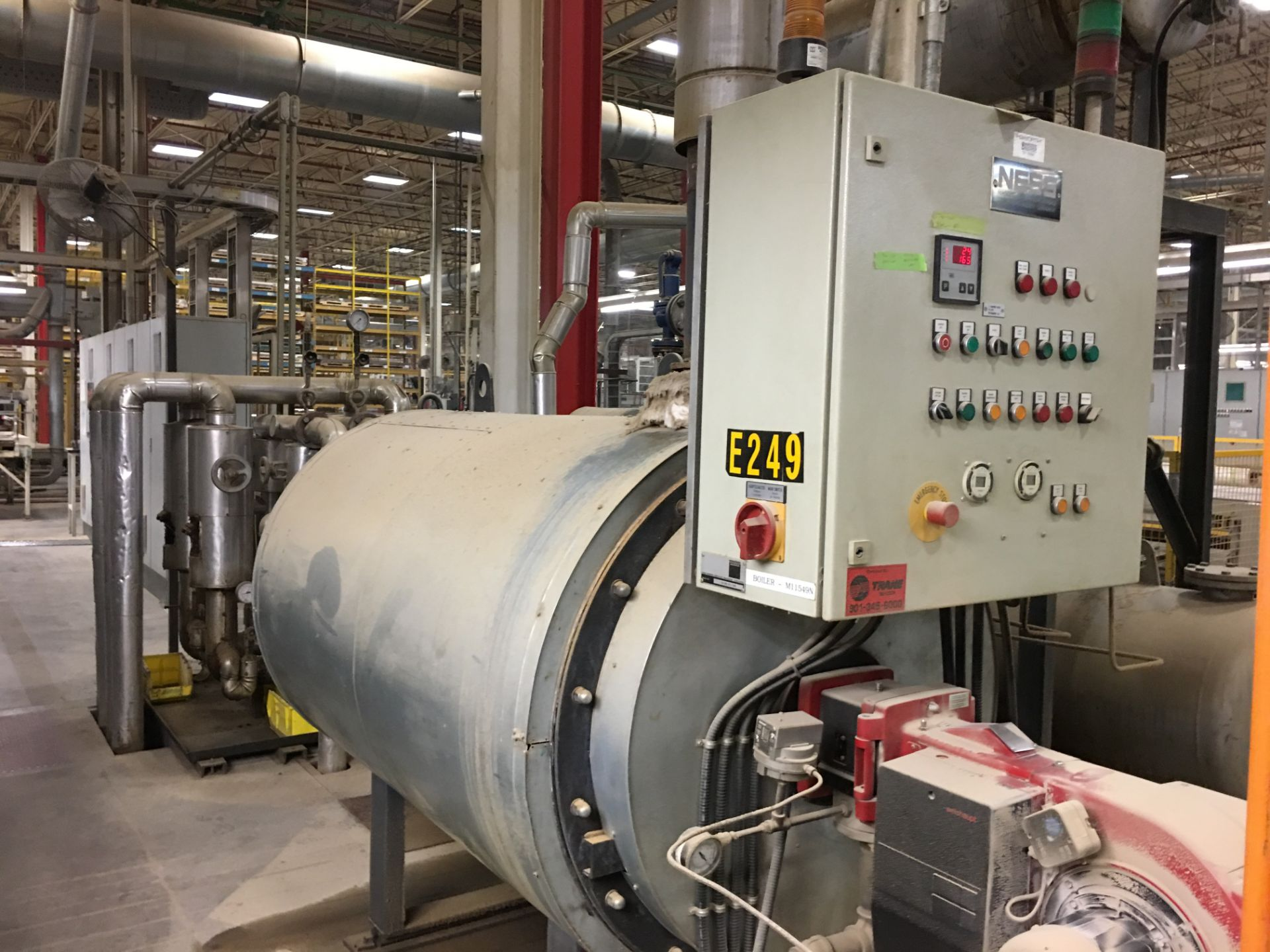 NESS NATURAL GAS OIL BOILER WITH CONTROLS - Image 2 of 8