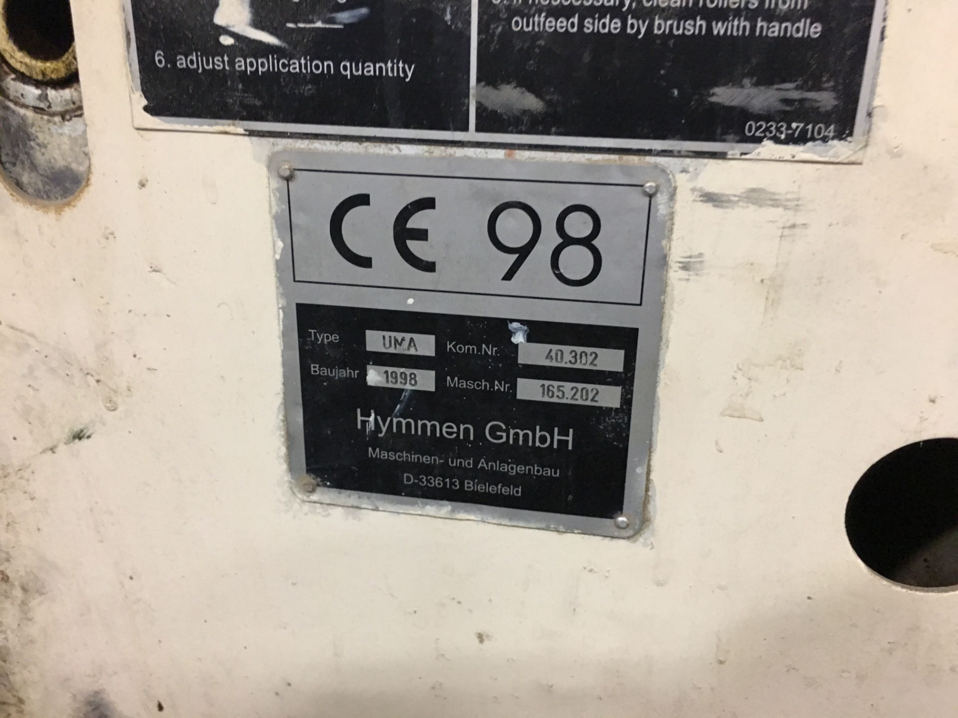 HYMMEN (UMA) GLUE SPREADER - Image 2 of 3