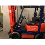 TOYOTA (42-6FGCU25) 5,000 LBS CAP FORKLIFT LPG 3 STAGE SIDE SHIFT (EXCLUDING TANK)