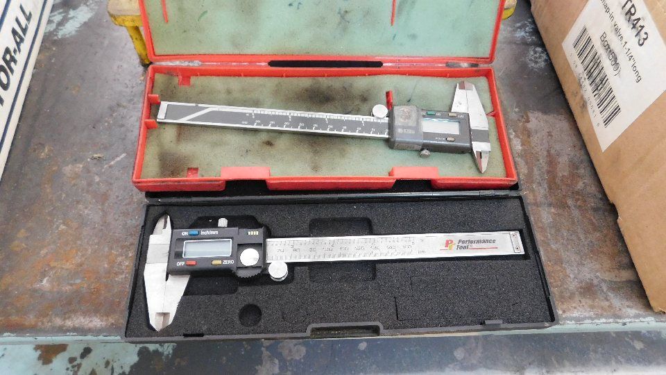 """Lot 9 - Lot to include: (2) Dial Indicators in cases, Automotive Deep well Socket Set, 1/2"""" to 12mm"""