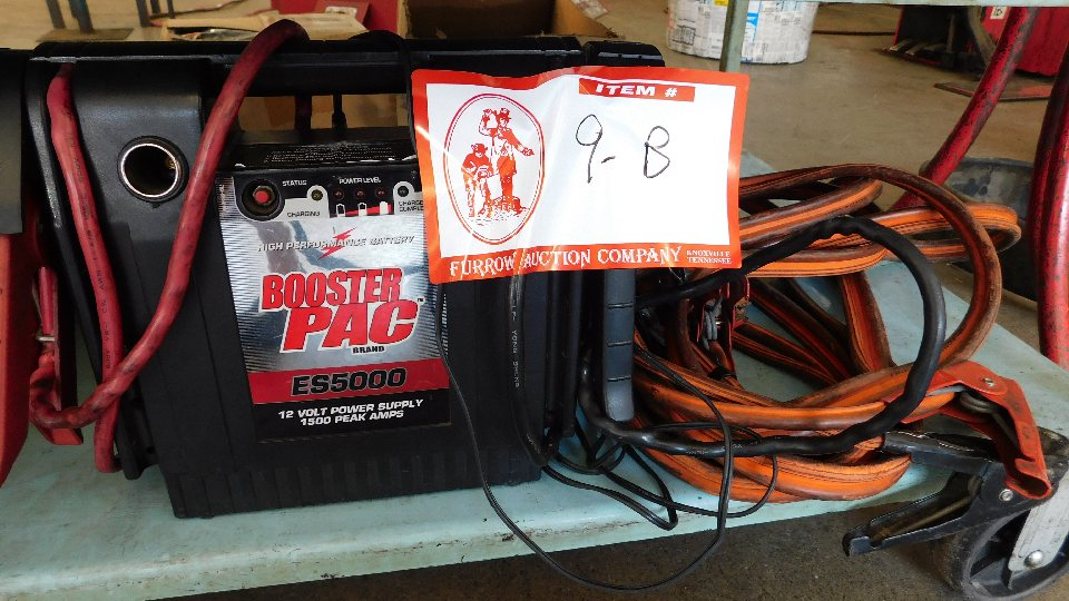 Lot 9B - Booster Pac ES 5,000 Power Booster, Set Jumper Cables