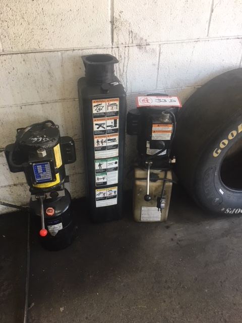 Lot 33D - (2) Hydraulic Lift Pumps, (1) Duro, (1) Stone