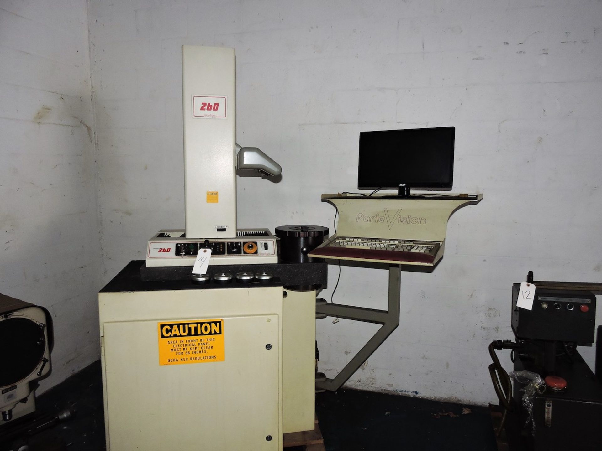 PARLEC P-260 PRE-SETTER ON TRU STONE BASE WITH CABINET AND COMPUTER - Image 2 of 5