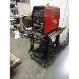 LOT: Lincoln Electric Precision TIG 185 TIG Welder, S/N U1040418770 (2004), with Cart, Helmets,