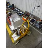 LOT: Rustoleum No. 2395000 Striping Machine, with Cans of Striping Paint