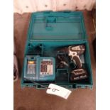 Makita Cordless Drill, with Battery Charger