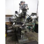 Bridgeport 1-1/2 HP Variable Speed V-Ram Vertical Milling Machine, S/N 12/BR156369, 9 in. x 42 in.