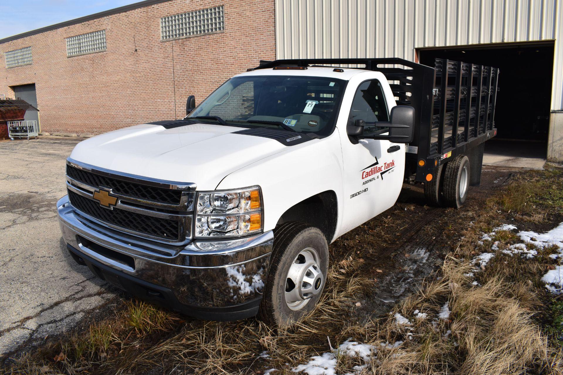 Lot 19 - 2012 Chevrolet Model 3500 HD Single-Axle Gas Stake Bed Truck, VIN 1GB3CZCG3CF166651, 16,252 miles,